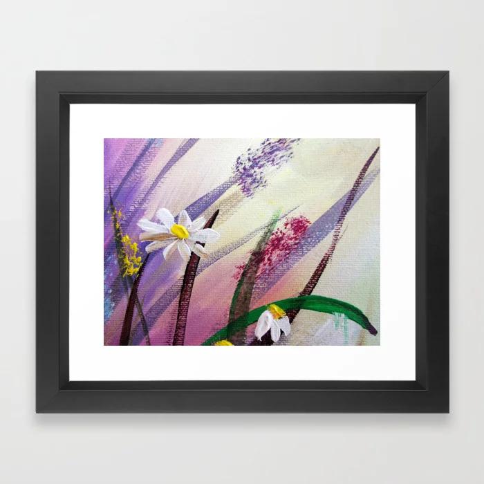 Daisies & Wildflowers. Save 10% Off Wall Art  #wallart #daisy #painting #walldecor #tapestries #walltapestry #spring #flowers #meadow #framedprint #prints #poster #wildflowers #society6 #peace #homedecor #naturelove #buyart #decor #giftideas #interiordesign