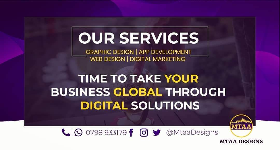 @Thee_mavERIC @Osama_otero For design & print Cards, banners, brochures, stickers & more  All branding: hoodies, shirts, notebooks, Cars etc.   Send us work please.    Call / WhatsApp: //wa.me/254798933179 | DM  Cheers!  #FridayMotivation  #share
