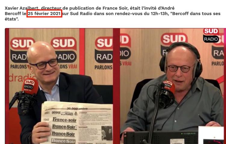 France-Soir et Sud Radio, agents complices du système : Panamza avait vu juste