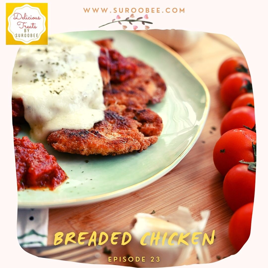 Breaded chicken with tomato sauce and Mozzarella. Recipe link: #breadedchicken #breadedchickenrecipe #chicken #mozzarella #cheese #cheesy #foodie #RecipeOfTheDay #food #newrecipe #easyrecipe #surooeats #tomato #tomatosauce #recipe #cooking #surooeats #cook