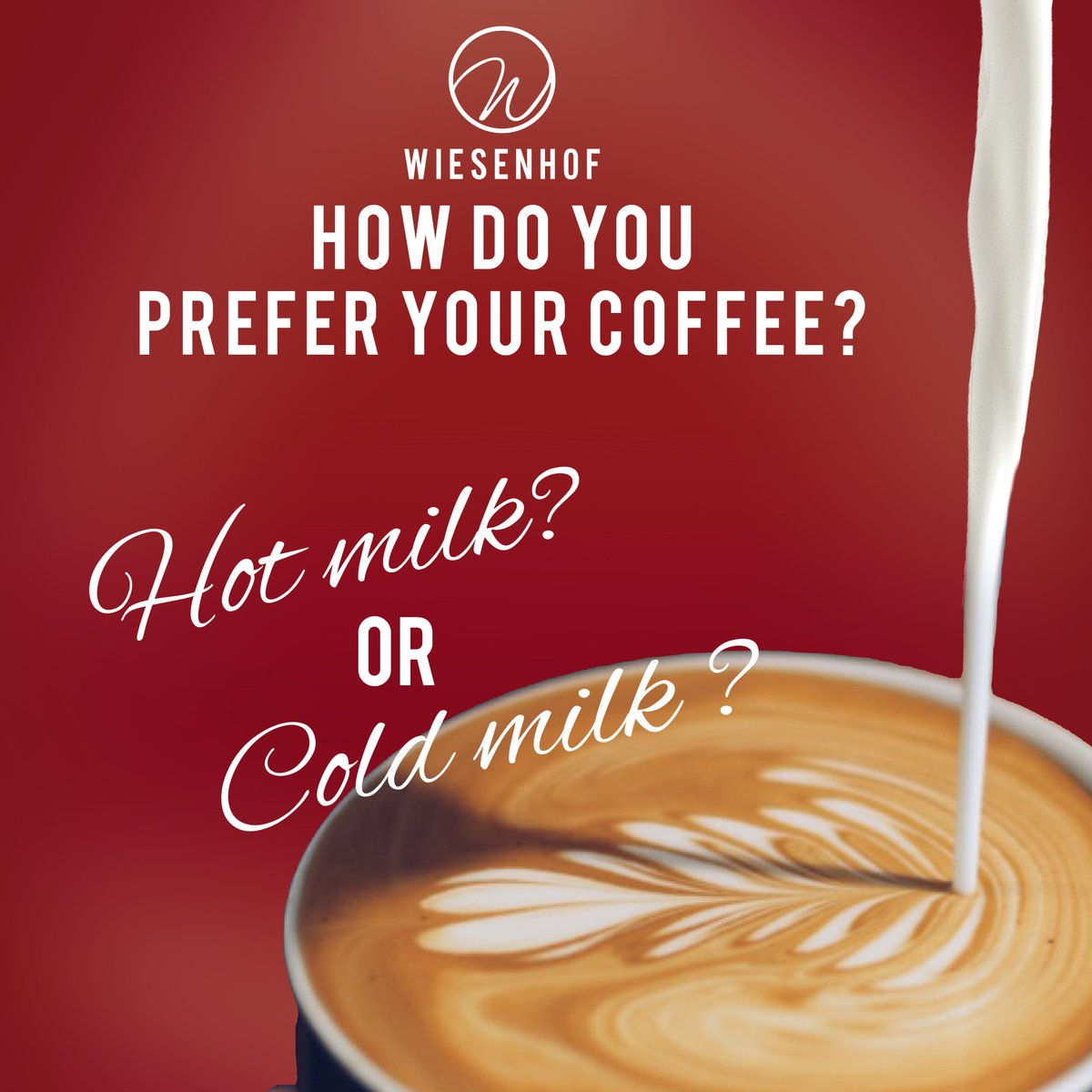 Hot milk or cold milk?  #bestcoffeeinSA #coffeelover #cafe #food #love #roastery #wiesenhof #wiesenhoffranchise #wiesenhofcoffee #bestcoffee