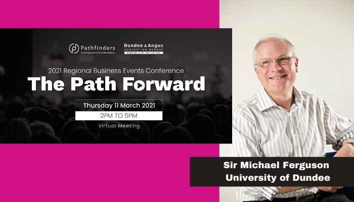 Image for The Path Forward conference line up includes speakers from @dundeeuni @AbertayUni @uniofstandrews and The James Hutton Institute. Full programme here  https://t.co/rGhKPa123T    #RBEC2021 #bu