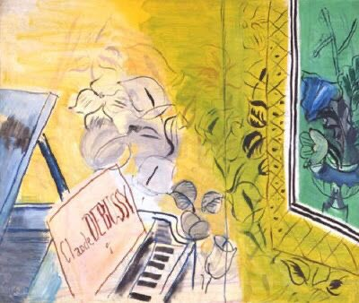 An homage to Debussy by Raoul Dufy. 💛 Almost as good as when I found those Schiaparelli designs illustrated by Kees van Dongen. 🎭  #artwork #art #illustration #design #inspiration #beauty #wednesdaythought #WednesdayMotivation #music #painting