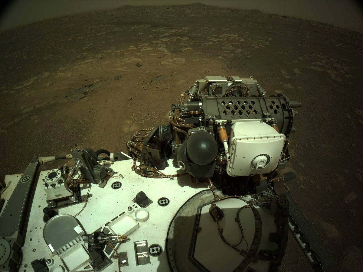 New Photos have been sent back to Earth by #Mars rover droid  @NASAPersevere - more images here:  #CountdownToMars #NASA