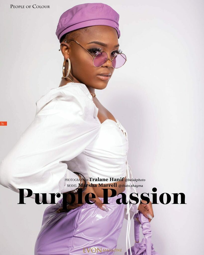 PURPLE PASSION from inside @evonmagazine People of COLOUR Issue #Model @thats.shayma X #Photographer @belakphoto  • • • #purple #purpleaesthetic #purpleeyeshadow #purplerain #purplehearts #purplepride #purplearmy #purplepassion