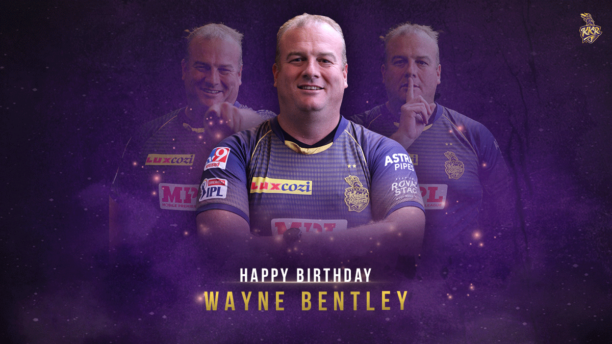 #KKR family wishes a very Happy Birthday to our ace manager who keeps the wheels on the squad turning smoothly! 😉🎂  Have a good one, @waynebentley10!  #HaiTaiyaar
