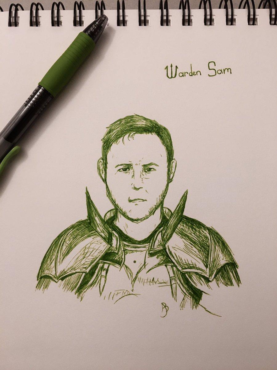 I tried drawing Warden Sam because Ranboo's stream got me all sad Uh anyways #awesamdudefanart #dsmpfanart