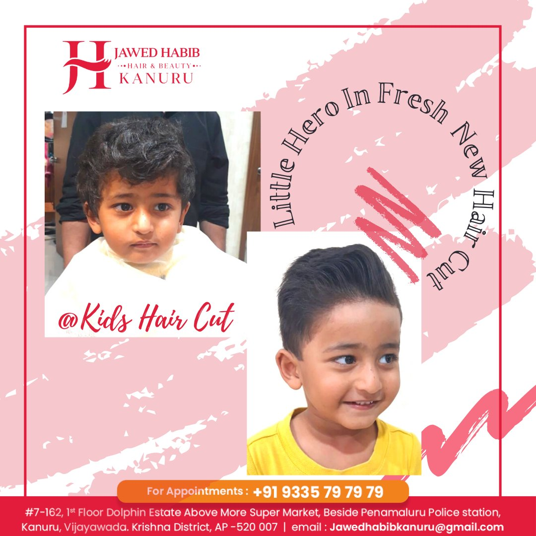 Now get a trendy haircut for your #kid at #jawedhabib #kanurubarnch To book your appointment contact or Whatsapp us on  Call: 9335797979  #haircut #hair #hairstyle #haircolor  #hairstyles #hairstylist #fade #hairdresser #style #fashion  #beauty #hairgoals  #instahair #hairsalon