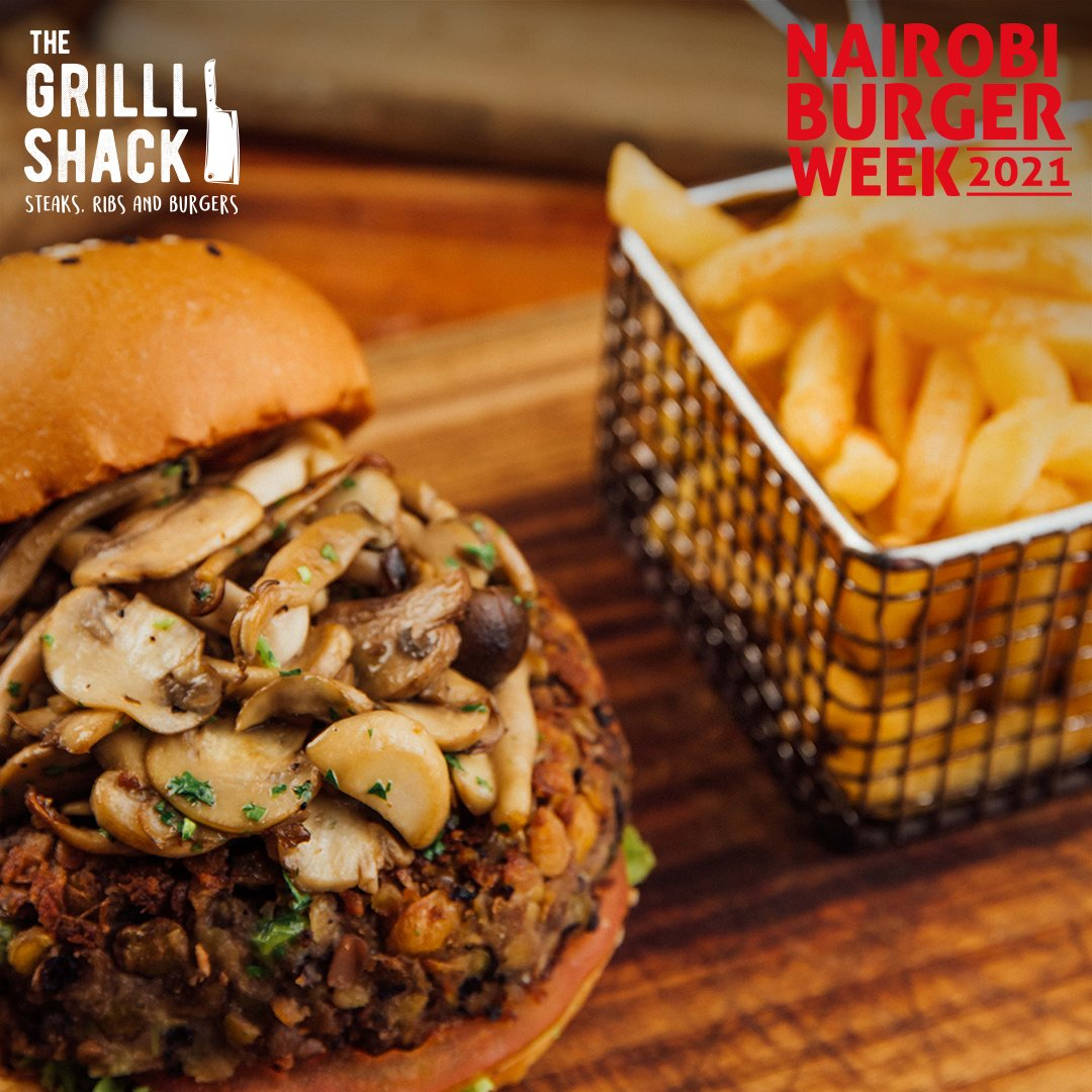 It's the last day of #BurgerWeek! Make it epic at Grill Shack and treat yourself and your squad squad to 2 burgers with 2 sides fries @ Kshs. 1,250/-. Offer is sit-in only valid till March 7th, 2021!!  Delivery available on Uber Eats #BurgerWeek #FeastForYourSenses. https://t.co/7VbVuh0bga