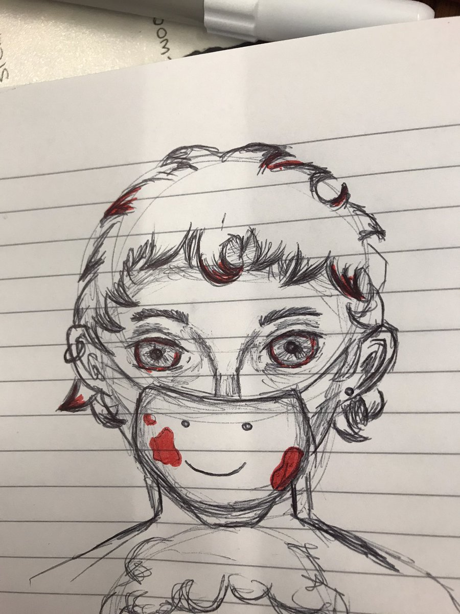 after what he'd done, dream didn't think there was any chance of george visiting him now   a quick five minute sketch i took during a class i probably should have been paying attention in! 😅 #dreamsmp #dreamsmpfanart #dnf #tommyinnit