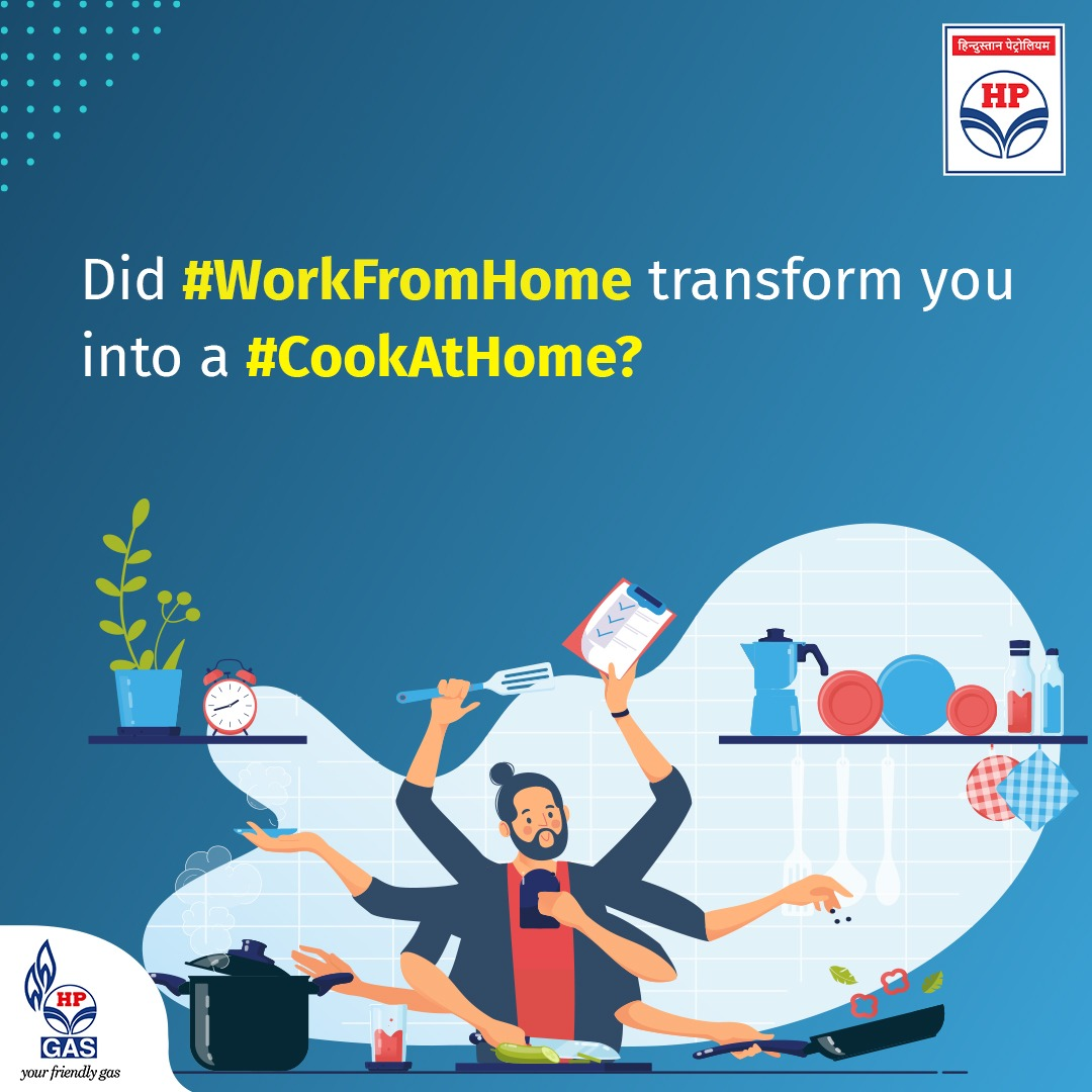 In these difficult times, HP Gas makes #multitasking at home a little easier.   #HPGas #cook #Food