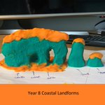 Doesn't this plasticine model of a coastal landform created by Josh in his Year 8 #Geography lesson look like a work of art? Our Year 7 & Year 8 geographers will be listening to #geologist Angus Miller talk all things volcano today: they can't wait to hear what he has to say!🌋
