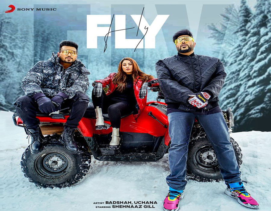 #ShehnaazGill: Punjabi singer Shehnaaz Gill Shared the poster of her new upcoming song Fly with rapper Badshah. #Fly #Badshah #Shehnaaz #Shehnaazians @ishehnaaz_gill @Its_Badshah @sonymusic
