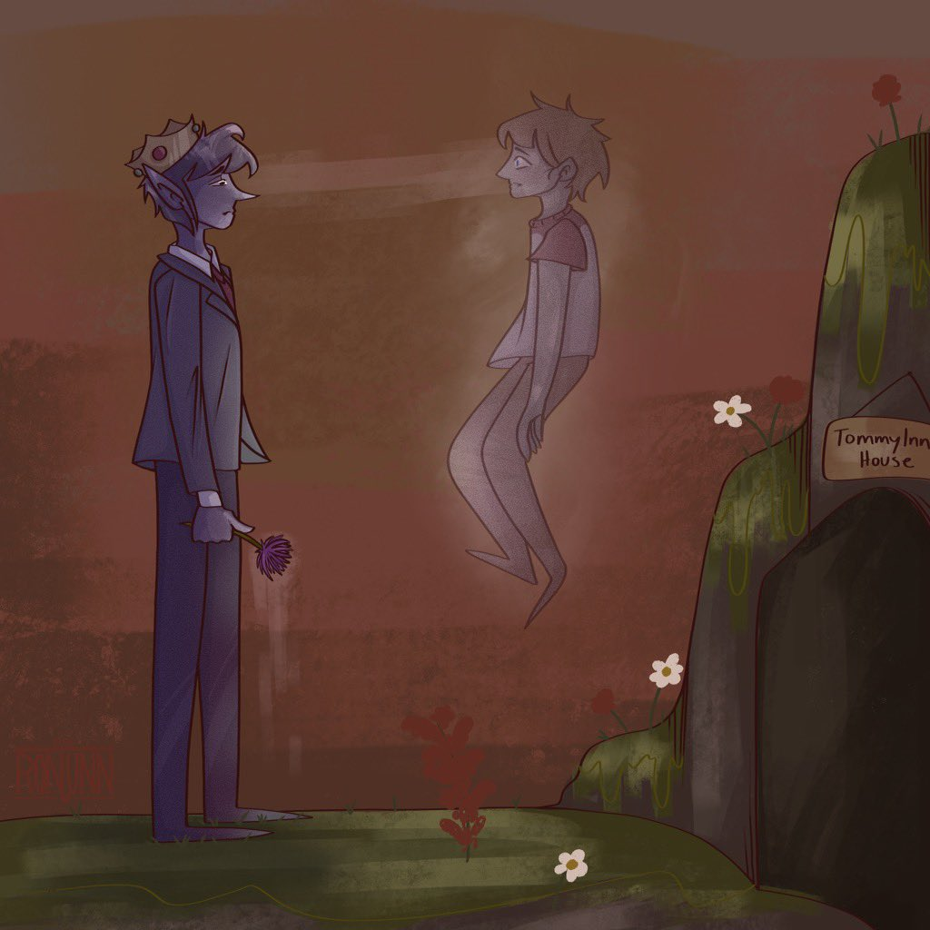 """""""and when this flower despawns... so will tommy."""" ——————[rts are appreciated] #ranboofanart #tommyinnitfanart #dreamsmpfanart"""