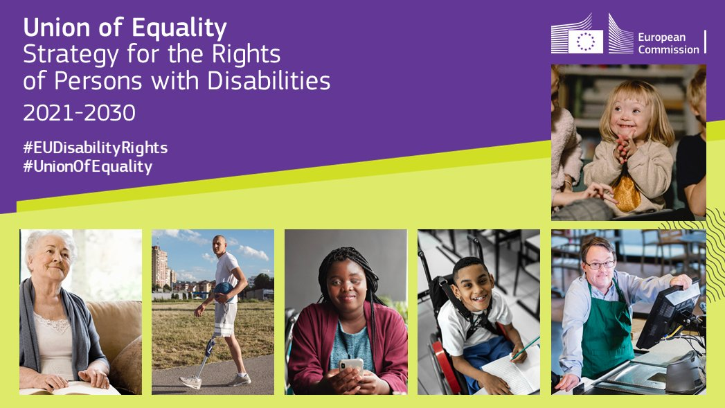 Around 87 million people in the EU have some form of disability.  📢 Today, we've published the new #EUDisabilityRights Strategy for 2021-2030.  The protection of the rights of persons with disabilities have to be at the centre of our #UnionOfEquality💙  👉https://t.co/1NUnKA0VH3 https://t.co/1AV6KBAUxJ