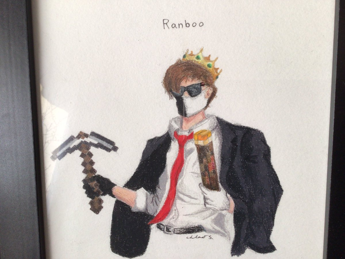 Hello there Ranboo, if your reading this my sister made me this drawing of you on paper I hope you like it.Reply to this tweet if you like it. #ranboofanart #ranbooart #mcytart #ranboo @Ranboosaysstuff