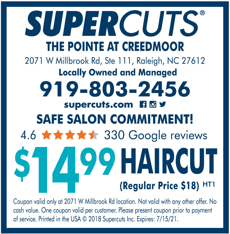 SUPERCUTS - $14.99 HAIRCUT Get your coupon -  #Couponeasy #Haircut #hairstyles #coupons #haircare #coupon #northcarolina #supercuts #savemoney