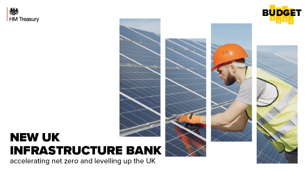 The new UK Infrastructure Bank will boost investment to accelerate progress to Net Zero, and level up the UK.  #PlanForJobs #Budget2021 https://t.co/xSzCKjyTXm