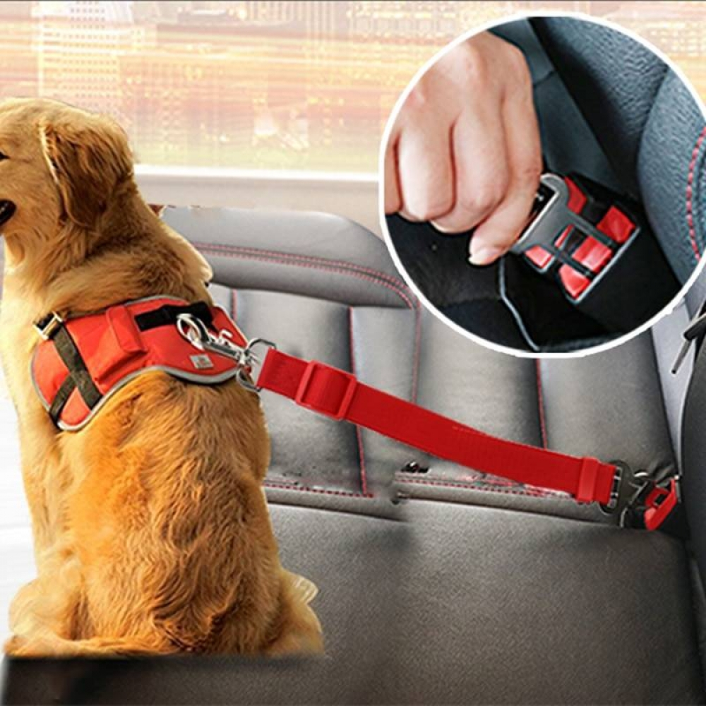 #beautiful #techie Vehicle Car Pet Dog Seat Belt Puppy Car Seatbelt Harness Lead Clip Pet Dog Supplies Safety Lever Auto Traction Products 3S1
