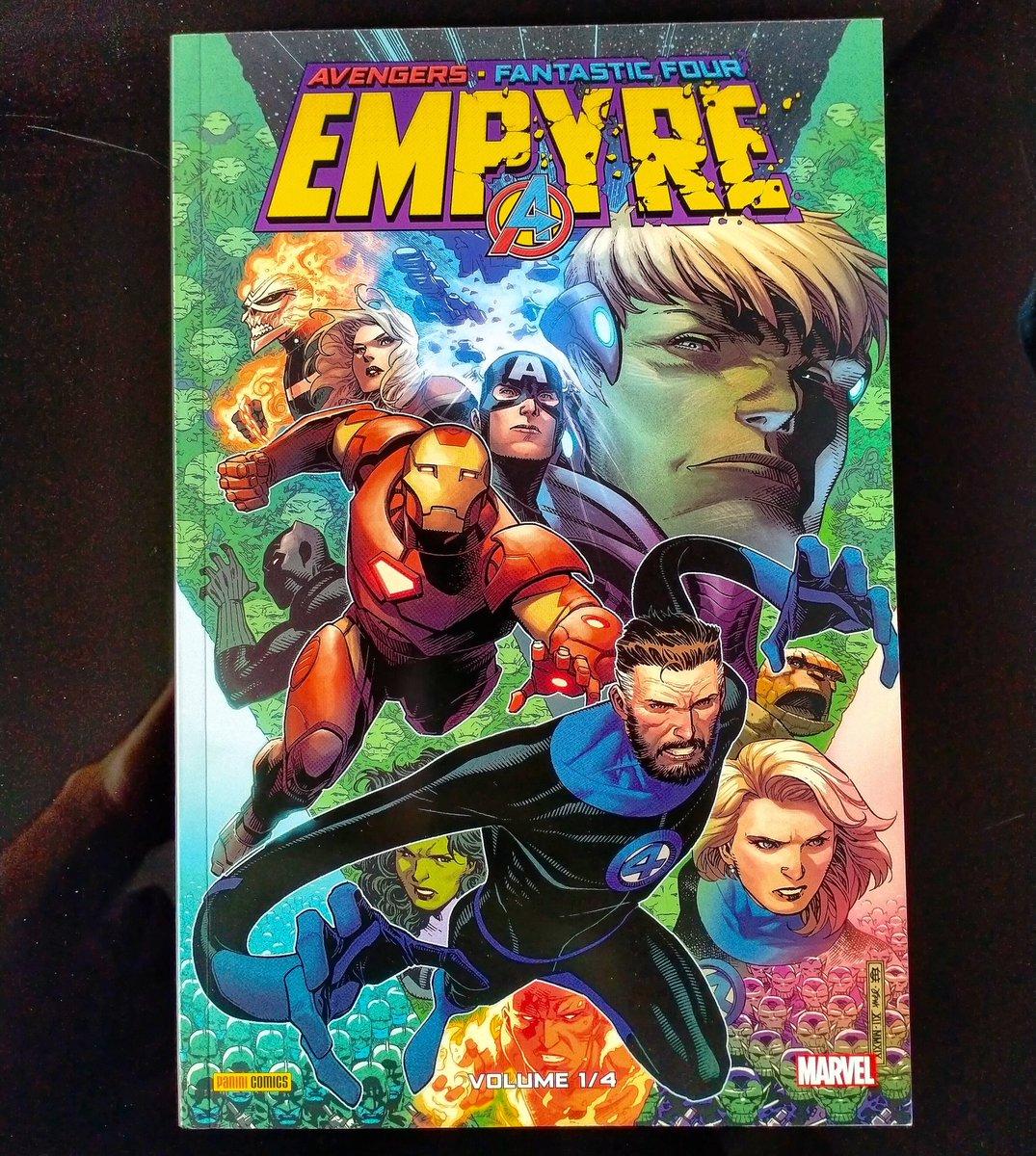 C'est parti pour le nouvel événement Marvel du printemps. #Empyre 1)4 et c'est chez @paninicomicsfra of course. Le conflit se prépare et l'univers est bien inquiet... ##/comics #bd #marvel #fantasticfour #avengers