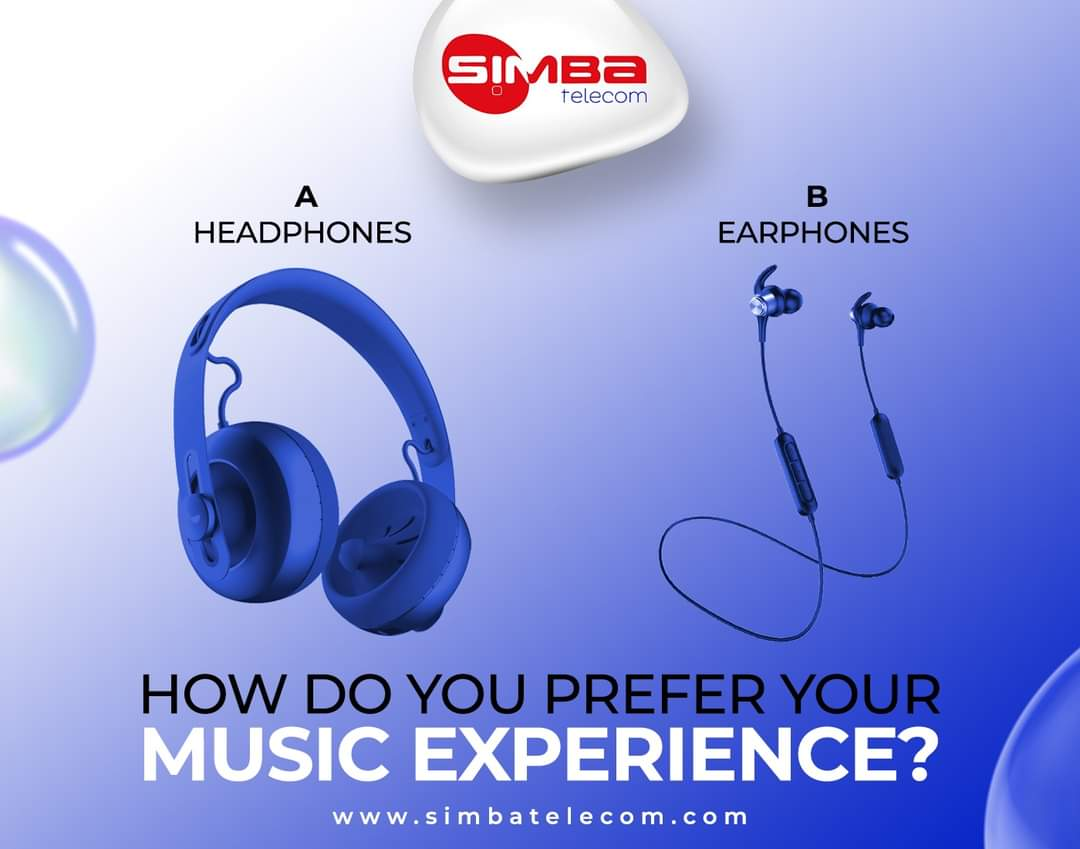 How do you like listening to your music ?   A or B   #WednesdayThoughts #WednesdayIdeas #Music #PositiveVibes #SimbaTelecom https://t.co/uiHpGBMqA4