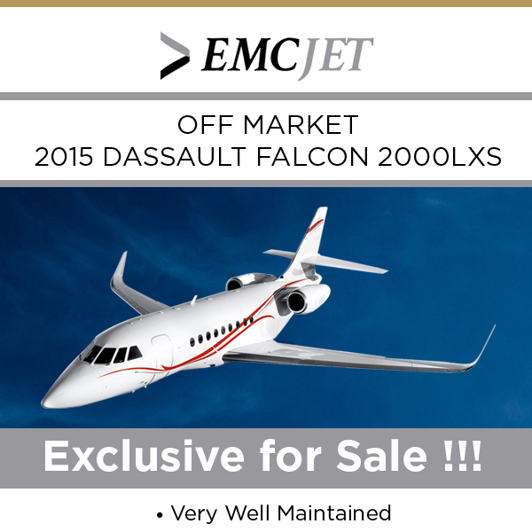 Off market - 2015 #Dassault #Falcon #2000LXS at EMC JET Very well maintained On FalconCare More details at: https://t.co/7rS0UARC9R  #bizjet #bizav #aircraftforsale #privatejet #privateflying #jetforsale #businessaviation