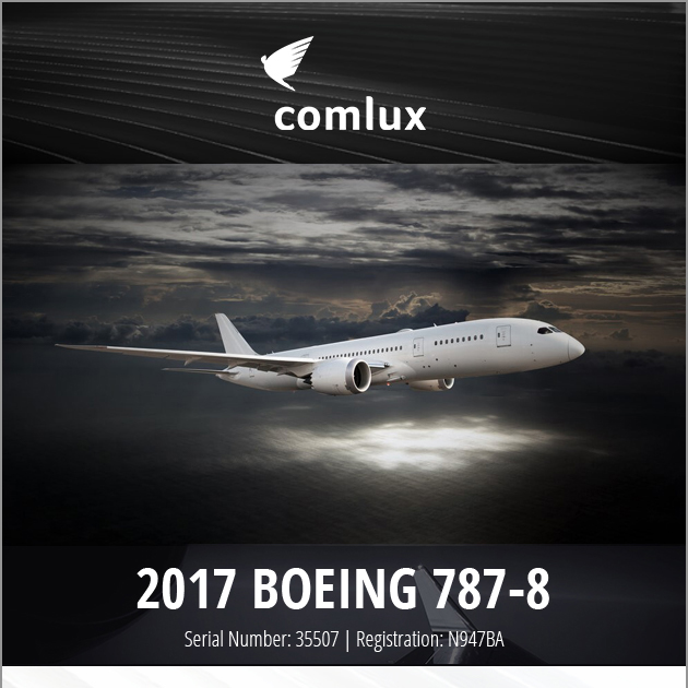 Major price reduction - 2017 #Boeing 787-8  at Comlux Transactions Available for sale or lease Delivery hours only More details at: https://t.co/bEneSEQvPt  #bizjet #aircraftforsale #privatejet #privateflying #jetforsale #businessaviation