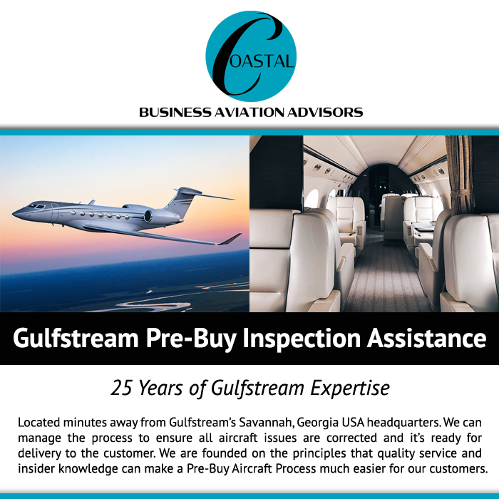 Gulfstream Pre-Buy Inspection Assistance from  Coastal Business Aviation Advisors 25 years of Gulfstream Expertise Read more about their services at: https://t.co/xwYUrpsoN4  #bizjet #bizav #aircraftforsale #privatejet #privateflying #jetforsale #businessaviation
