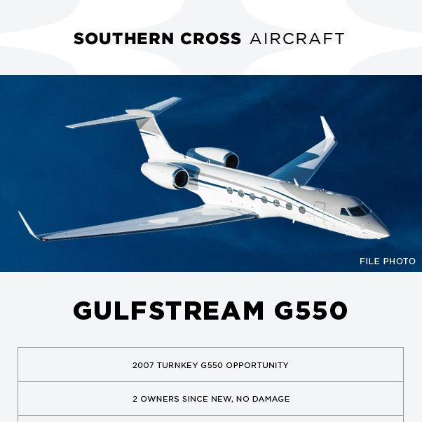 #Gulfstream #G550 available at @SCrossAircraft  EASA and FAA compliant RRCC, MSP, HAPP, MPP, CMP Programs More details at: https://t.co/8GFJkfrb0o  #bizjet #aircraftforsale #privatejet #privateflying #jetforsale #businessaviation