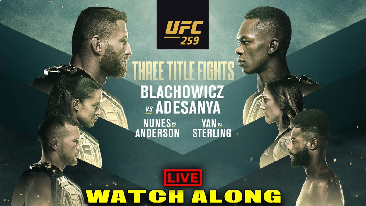 HUGE weekend of fights coming up on Saturday!!! 3 titles on the line!! Come and join us for a Watch Along 🙌🏻  #UFC259 #UFC #MMA #MMATwitter