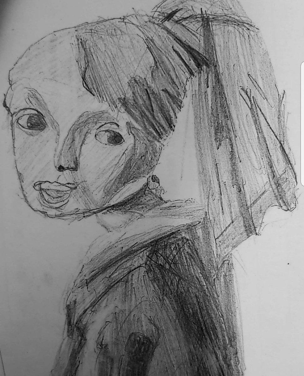 先生の評価に納得?美術の実技でD評価になった「真珠の耳飾りの少女」!