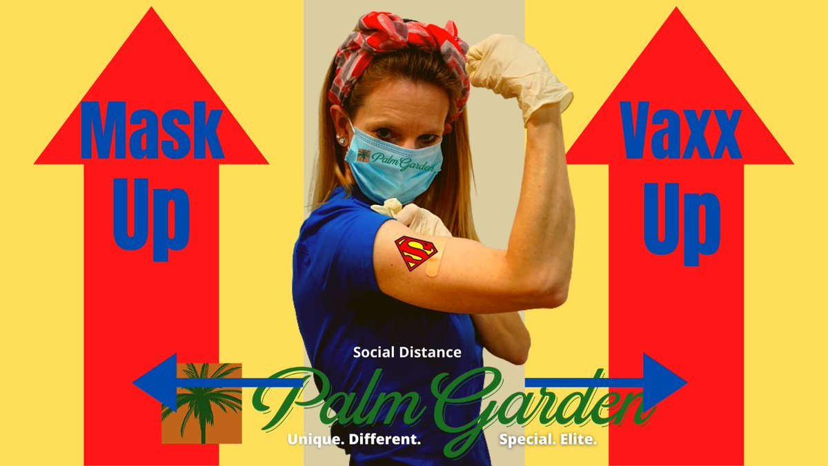 With gratitude, visit  and get educated, mask up, wash up and keep your distance, and then #GetVaccinated #Gratitude #MaskUp #COVID19 #CareNotCOVID #WeArePalmGarden