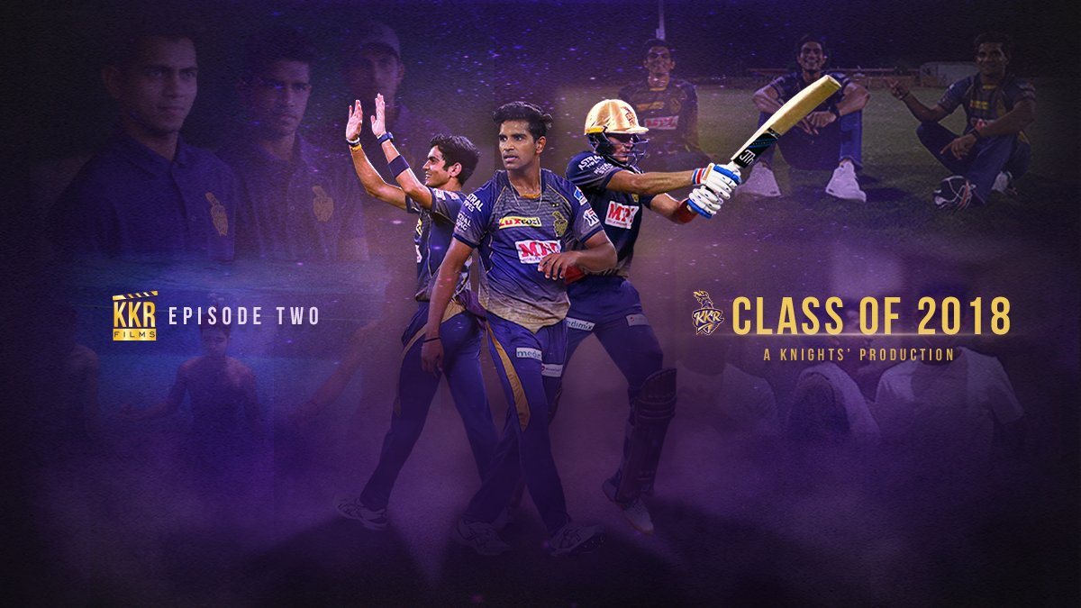 #KKRFilms Ep. ✌️ features 'The Class of 2018'  Witness the journey of our champion U-19 recruits @RealShubmanGill, @ShivamMavi23 and @Imnagarkoti as they battled all odds to step up to the big stage 💪  ⏳Coming soon...  #KKR #HaiTaiyaar