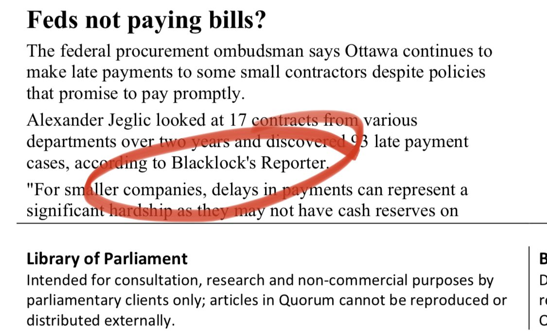 Library of Parliament loves Blacklock's stories! So why is @LoPResearch in @FedCourt_CAN_en seven years arguing it doesn't have to pay for them? @Paulatics @mivillej @SenDuffy @jaykerrwilson @JusticeCanadaEN @CarreauCarreau #cdnpoli