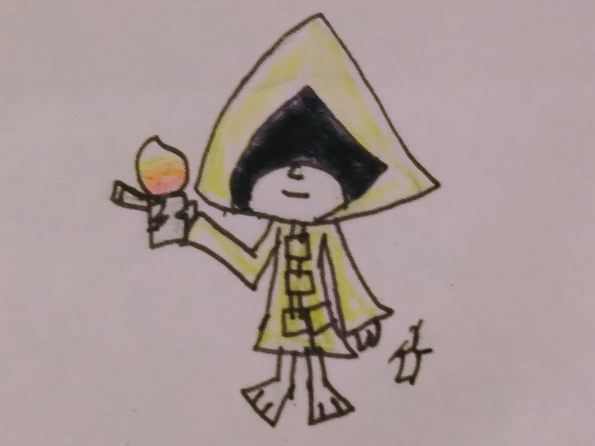 I drew six from little nightmares because she cute and I love horror #LittleNightmares #Littlenightmares2fanart #horror #cute #HorrorArt