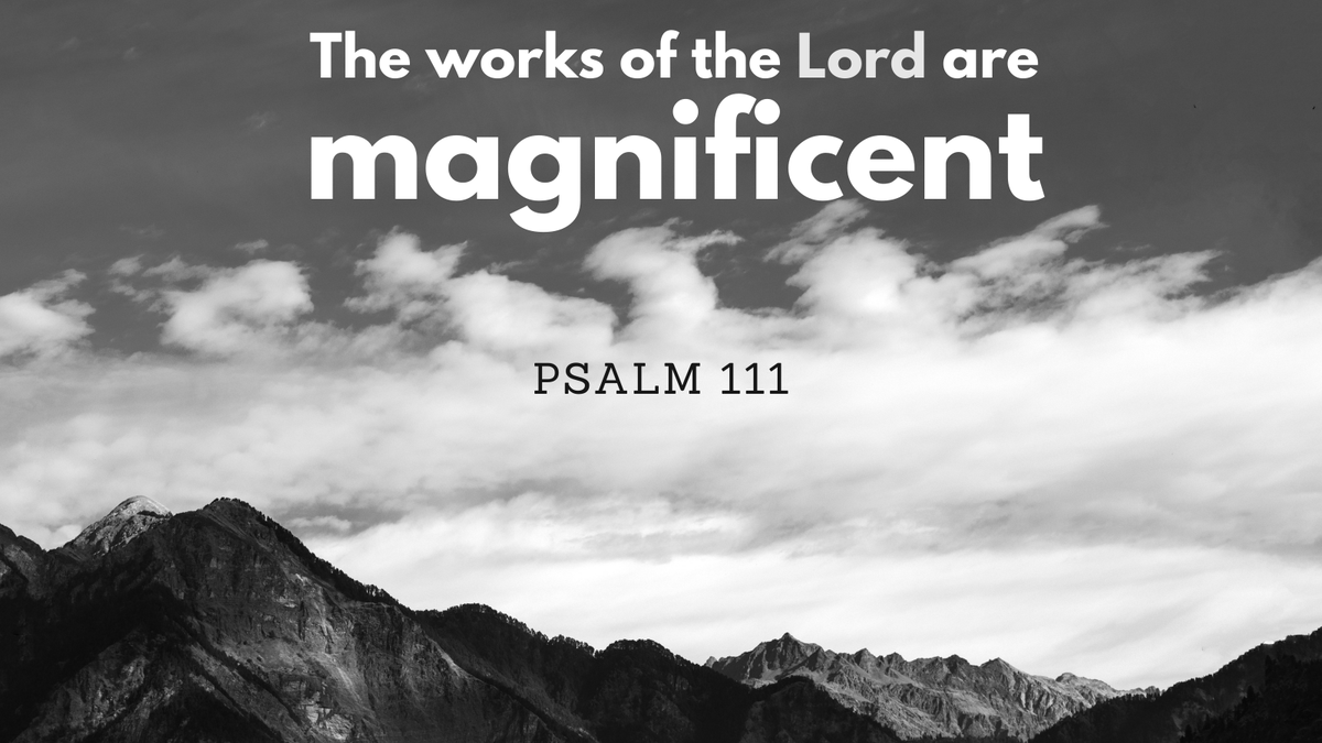 Read and reflect on Psalm 111: Praise the Lord!    The works of the Lord are magnificent;     they are treasured by all who desire them. God's deeds are majestic and glorious.     God's righteousness stands forever.  #lent #lent2021 #40days #lentenseason #faith #spirituality