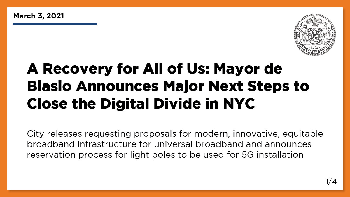 2021 is the year of 5G — and it's time to make it happen.  We're letting providers reserve 7,500 street lights to install 5G technology, and 75% of them will be in underserved areas. The future is coming NOW. #ARecoveryForAllOfUs