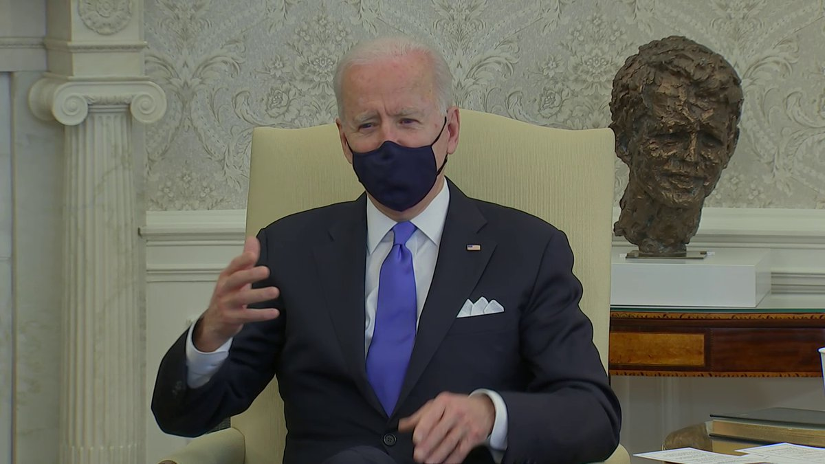 "NEW: President Biden calls Texas and Mississippi decisions to end mask mandates ""a big mistake"" and criticizes what he views as ""Neanderthal thinking"" after CDC warned against complacency in the face of emerging coronavirus variants on Monday."