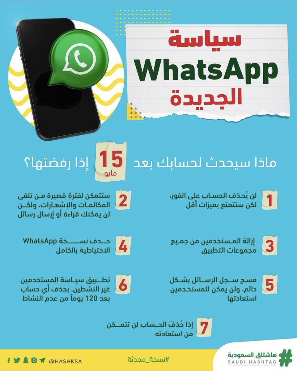 """سياسة """"WhatsApp"""" الجديدة."""