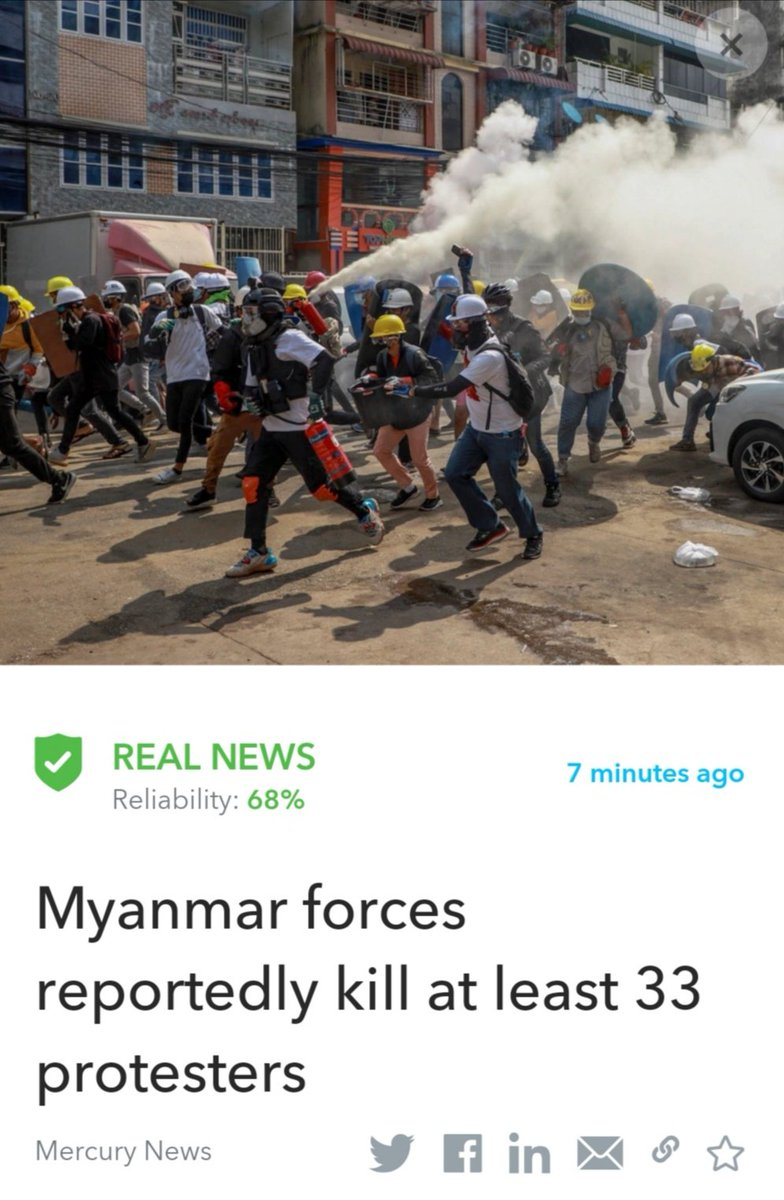 #Breaking - Myanmar security forces dramatically escalated their crackdown on protests against last month's coup, killing at least 33 protesters Wednesday in several cities.  Read more:   #Myanmar   This article was fact-checked by Oigetit ✅