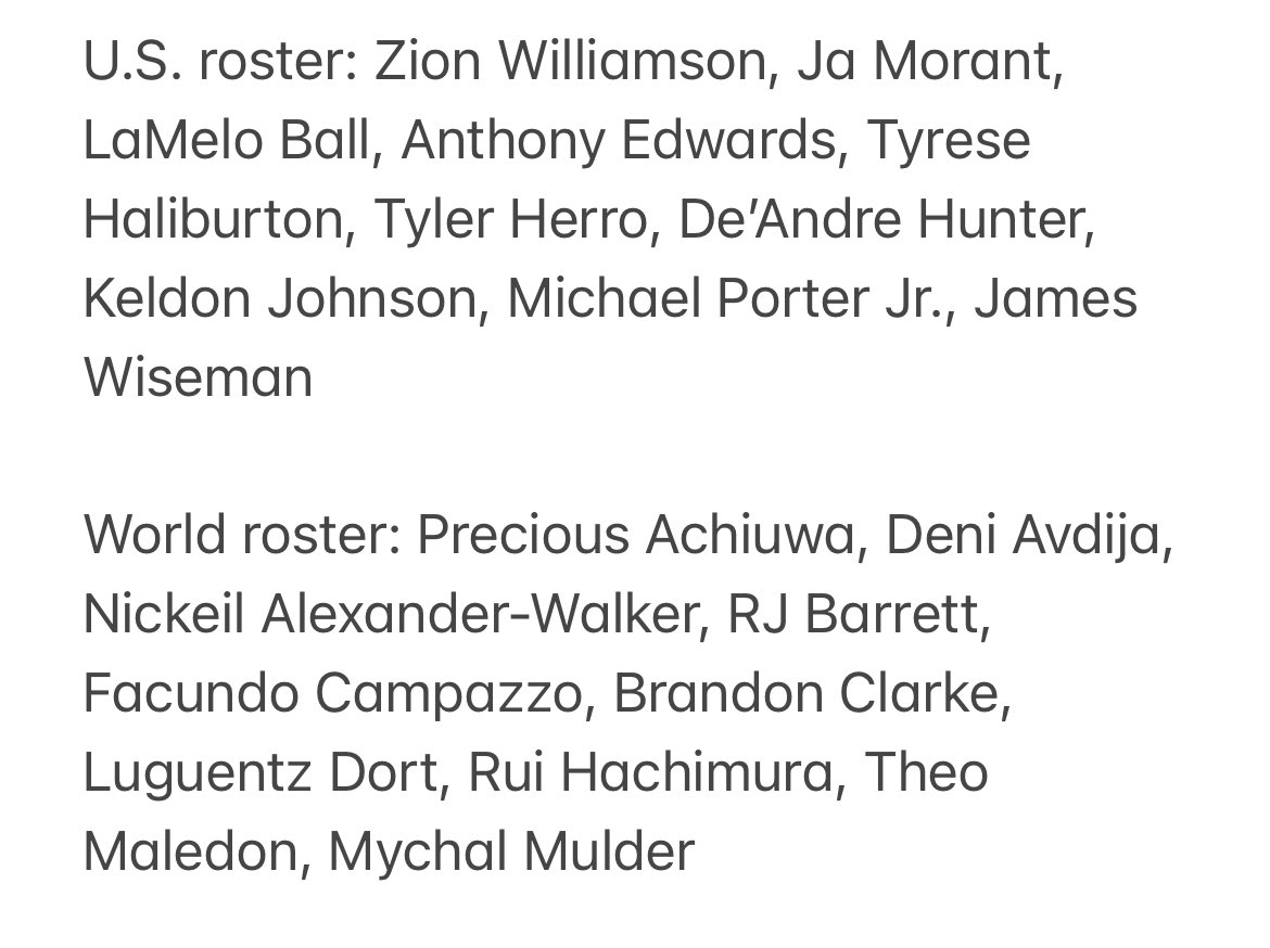 Zion Williamson, Ja Morant and LaMelo Ball headline NBA Rising Stars selections for 2020-21 season, as revealed on Top Shot. Rosters here: https://t.co/fwmhlz3DX8