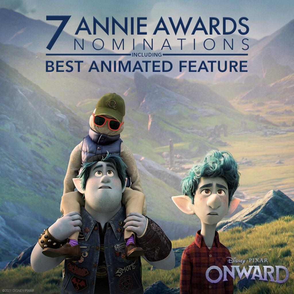 Congratulations to #PixarOnward for its seven #AnnieAwards nominations, including Best Feature!