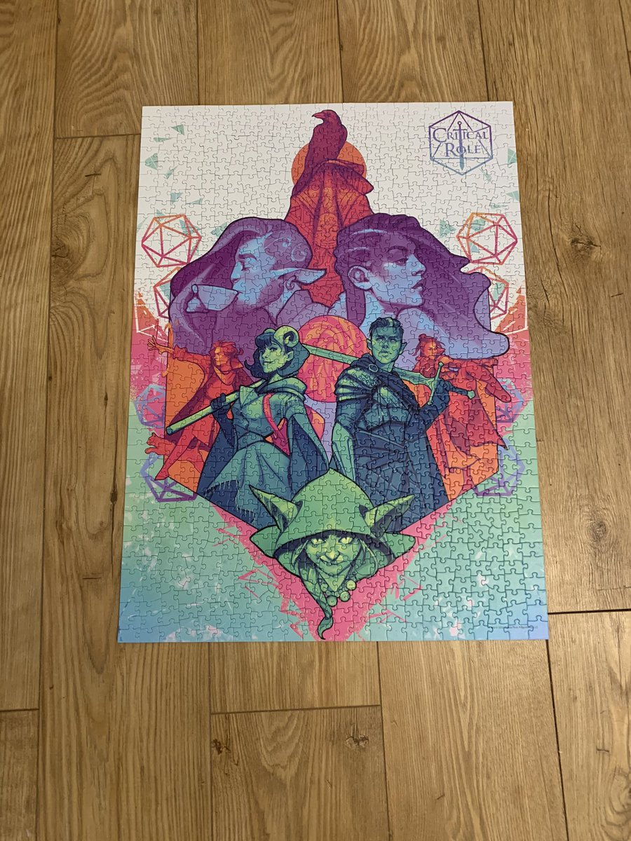 Just finished my 4th 1k piece puzzle of COVID times #criticalrole