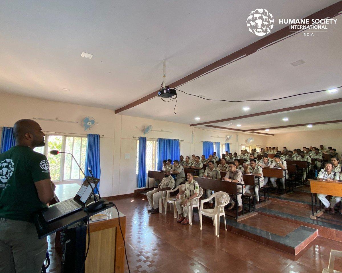 (1/2) On the occasion of #WorldWildlifeDay, HSI/India conducted a sensitization workshop for 74 Range Forest Officer Trainees from 6 states - all of whom are receiving training at the Karnataka State Forest Academy.  @aranya_kfd @DharwadForest