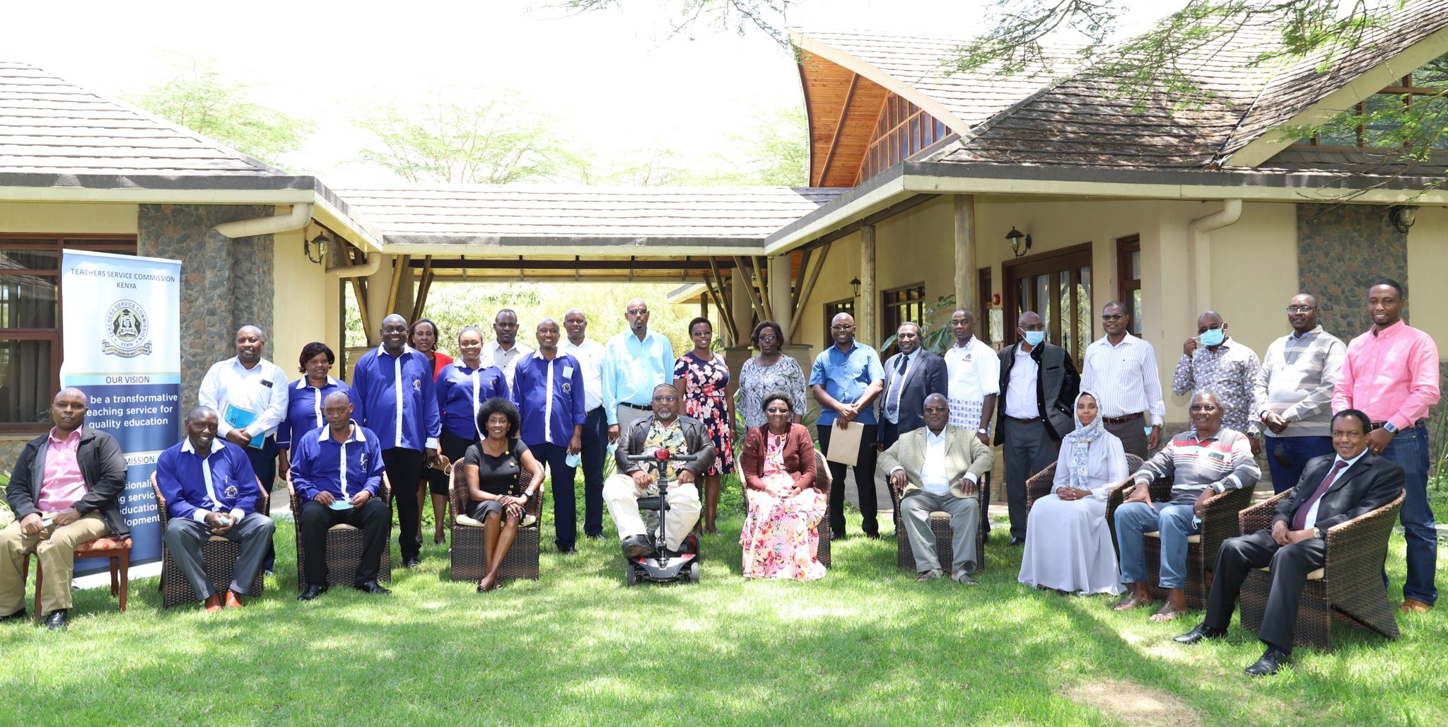 Officials of the Kenya Union of Special Needs Teachers (KUSNET) pose for a photo with TSC Board and Management after signing a recognition agreement with the Commission in Naivasha on 03/03/2021. Kusnet will now tussle for membership with both Kuppet and Knut.