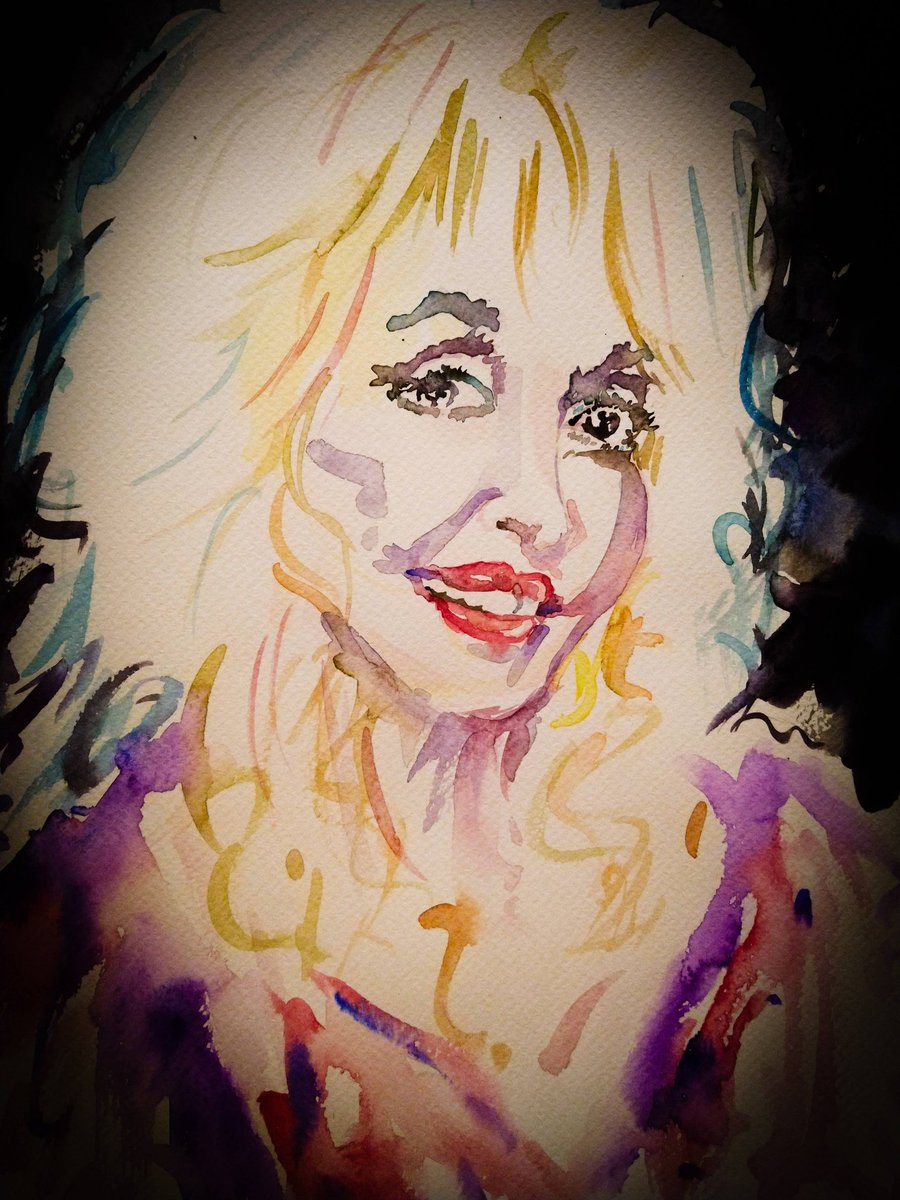 Dolly you legend #DollyParton #art #artwork #graphicart #Illustrator #illustration #artistsoftwitter #artistsontwitter #colour #artist #artcommunity #artistscommunity #etsy #music #legend #portrait #portraitart #commissions #Dolly #Watercolour #sketch #sketching #irishartist