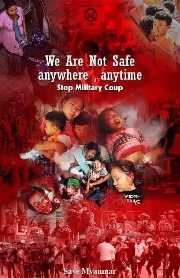 They said don't response to the military 😢 yes we dont have anythinf to response but until when and how many more have to die 😢#MilkTeaAllianceMyanmar #WhatsHappeningInMyanmar #HearTheVoiceOfMyanmar https://t.co/fYtqdzYn93