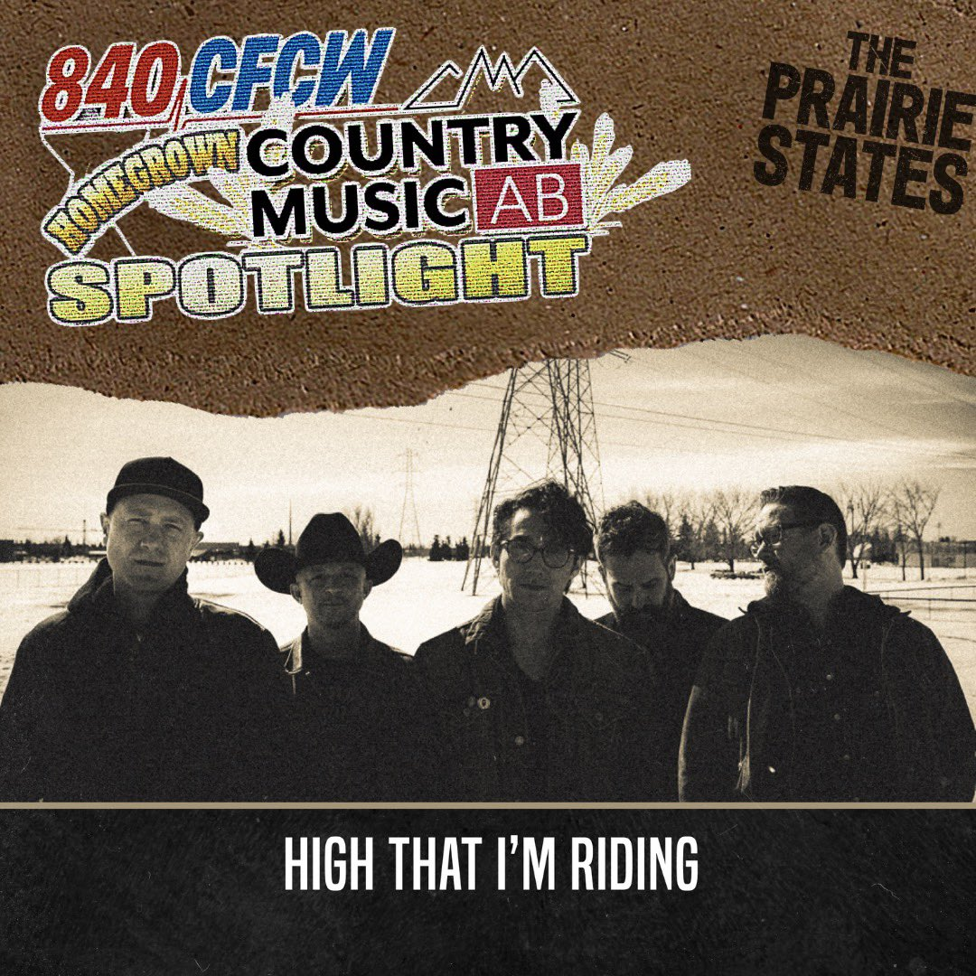 We are so pumped to be the @840CFCW Homegrown @CountryMusicAB Spotlight Artist for March!  Tune in all month long to hear High That I'm Riding.   Thank you @840CFCW for supporting the AB Country Music scene!  @gps_promotion