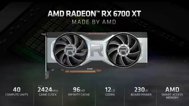 Announcing the AMD Radeon RX 6700 XT. Built for the gaming enthusiast looking for maximum settings at 1440p and high-refresh competitive gameplay. #GameOnAMD