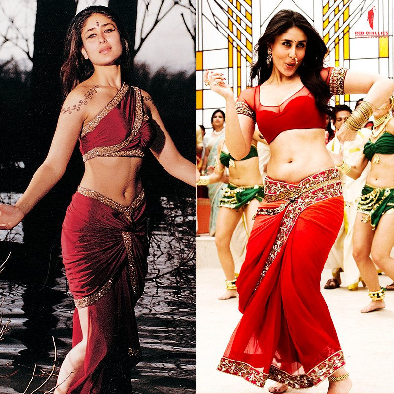 Same same but different! 🤩 Kareena is her own competition in the saree game. Agree?  #Asoka #Raone